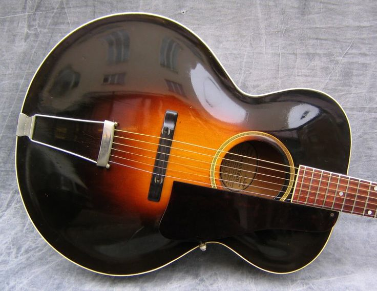 vintage gibson l 4 round hole archtop acoustic guitar guitar pickin 39 in 2019 archtop. Black Bedroom Furniture Sets. Home Design Ideas