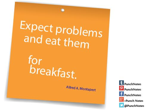 *Espect problems*  A quote about success by Alfred A. Montapert.