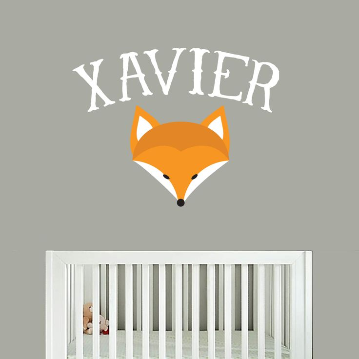 Custom Fox Name Printed Wall Decals Wall Stickers Part 49