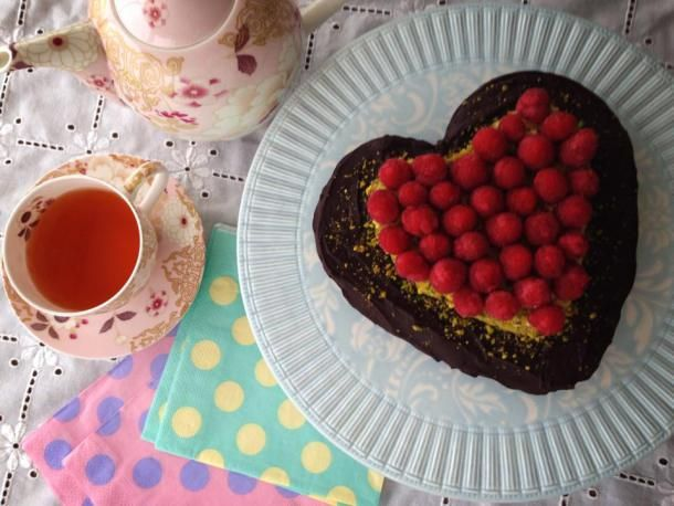Yummy flour-less chocolate cake, perfect for afternoon tea with a scoop of vanilla ice cream on the side