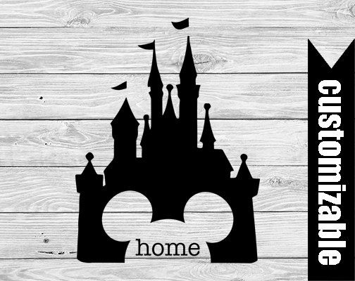 Disney Castle Home Iron On Transfer Printable - digital download - home shirt - Disneyworld Family Vacation matching shirts