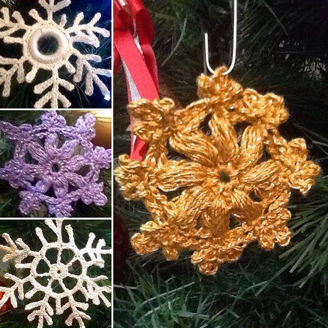 #crochetsnowflake  on the tree... made by me / mojimi rukami  #handmade #christmascrochet