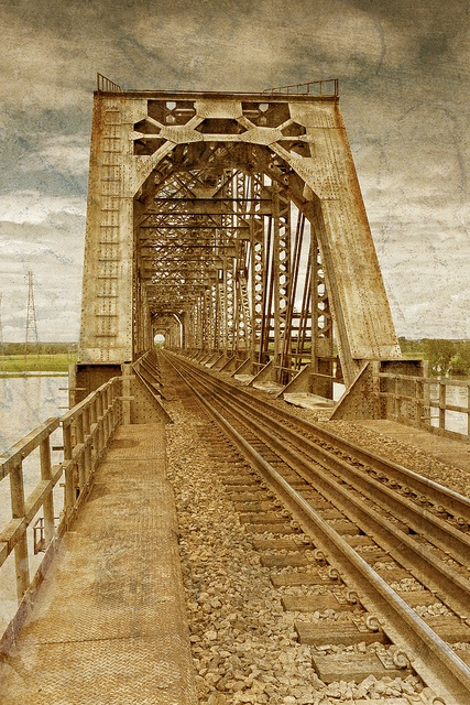 Rail Road Bridge Over The Missouri River