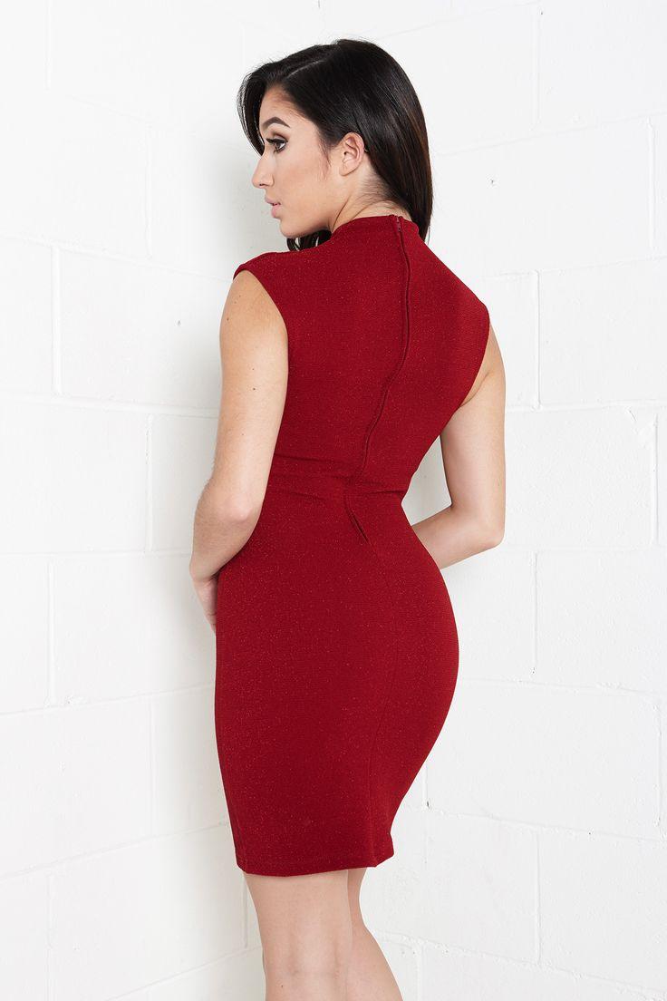 Sleeveless Shimmer Mini Dress