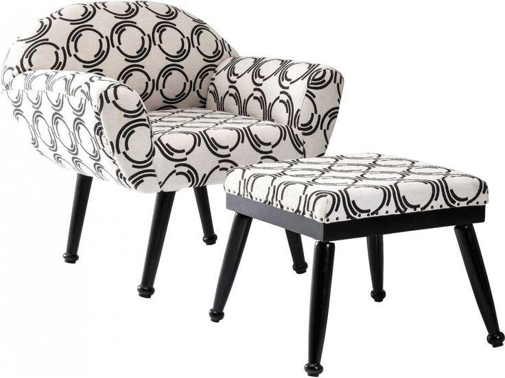 Fotel Fjord County + Podnóżek — Fotele — KARE® Design