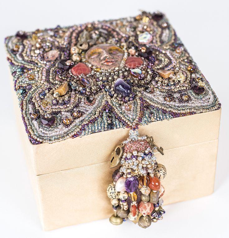 Bead Embroidery beaded box | Bead Embroidery