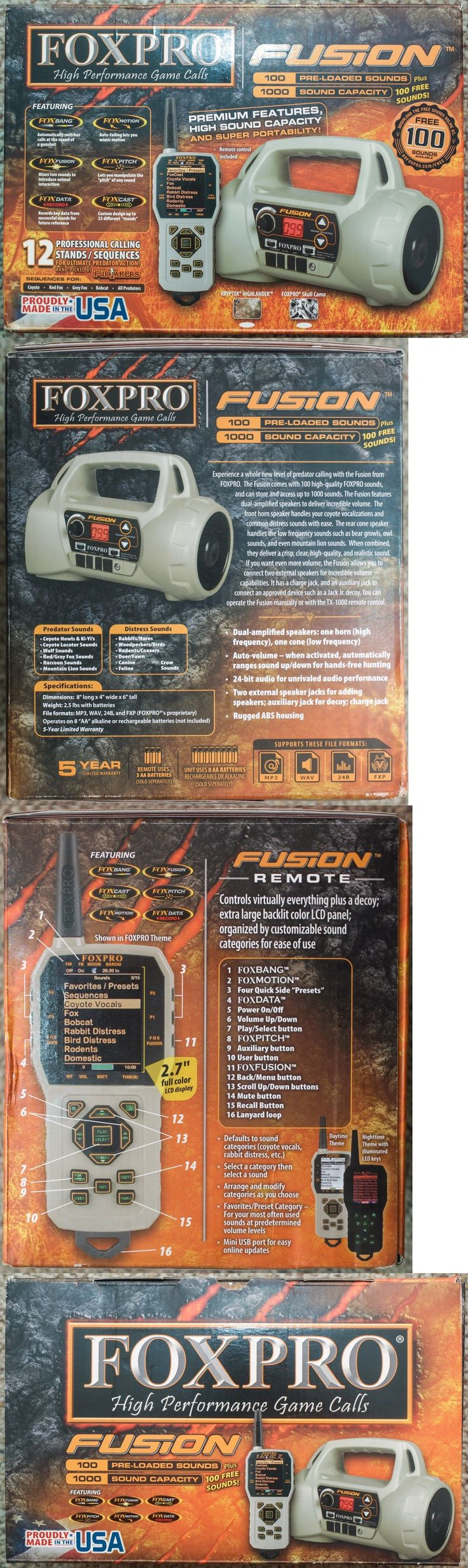 Game Calls 36252: *New* Foxpro Fusion Electronic Predator Coyote Game Call + Tx-1000 Remote - Tan -> BUY IT NOW ONLY: $349.99 on eBay!