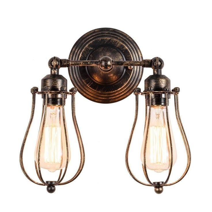#eBay#Antique#Industrial#Sconce Light#Wall#Mount#Vintage#2#Lamp#Oil#Rubbed#Bronze#Art