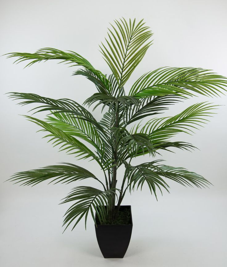 Arekapalme 90cm im schwarzen Dekotopf AR Kunstpalmen künstliche Palmen Areka Areca Kunstpflanzen