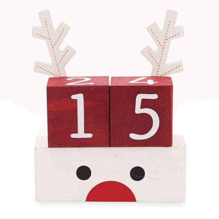 Reindeer Count Down Blocks