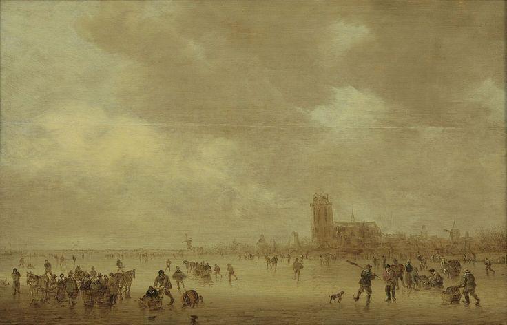 IJsgezicht voor Dordrecht, Jan Josefsz. van Goyen, 1644 | Museum Boijmans Van Beuningen