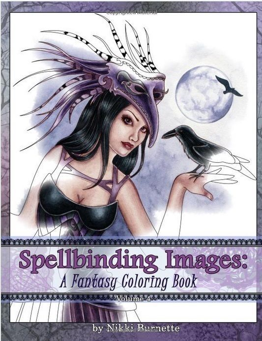 Spellbinding Fantasy Adult Colouring Book Fairies Mermaids Witches Vampires 20