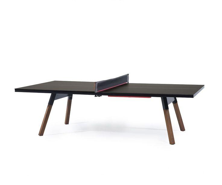RS Barcelona Ping Pong Tischtennisplatte Esstisch Schwarz