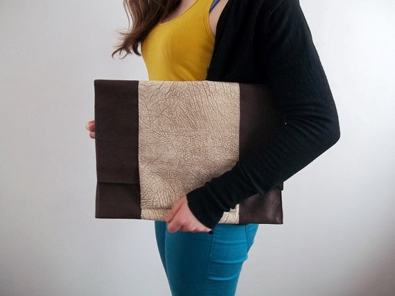 MESSENGER BAG Large clutch fancy jute shopping bags by ILAJLA, $29.00
