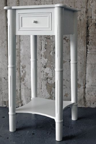 Wooden One Drawer Bedside Table Or Side Table White