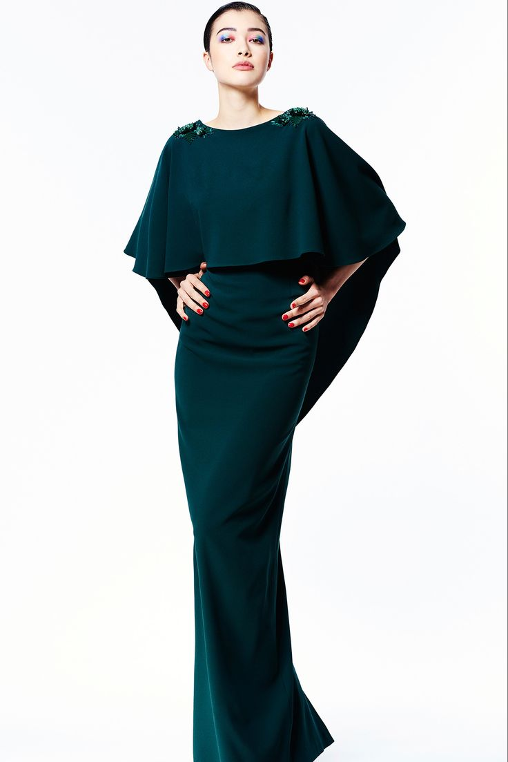 ZAC Zac Posen Pre-Fall 2015 - Collection - Gallery - Style.com HI-LO PONCHO/CAPE