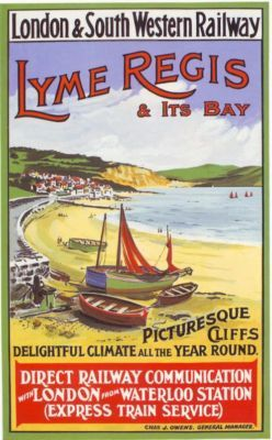 railway-lyme-regis-travel-poster