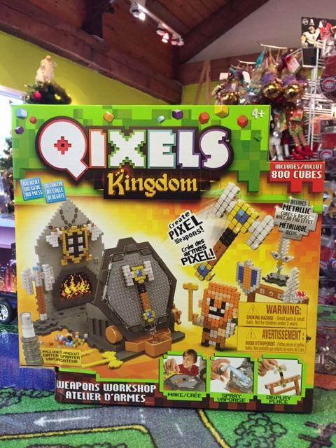 Qixels Kingdom. Comprend +800 cubes! EN 3D!! Jeu de construction. Détaillant à St-Sauveur, La Boîte à Surprises de Nicolas. Plaisir assuré!