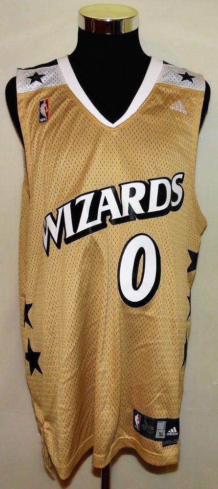 7ea9db2b91cf ... Gilbert Arenas Washington Wizards Gold Mens adidas Swingman Sewn Jersey  Size XL .