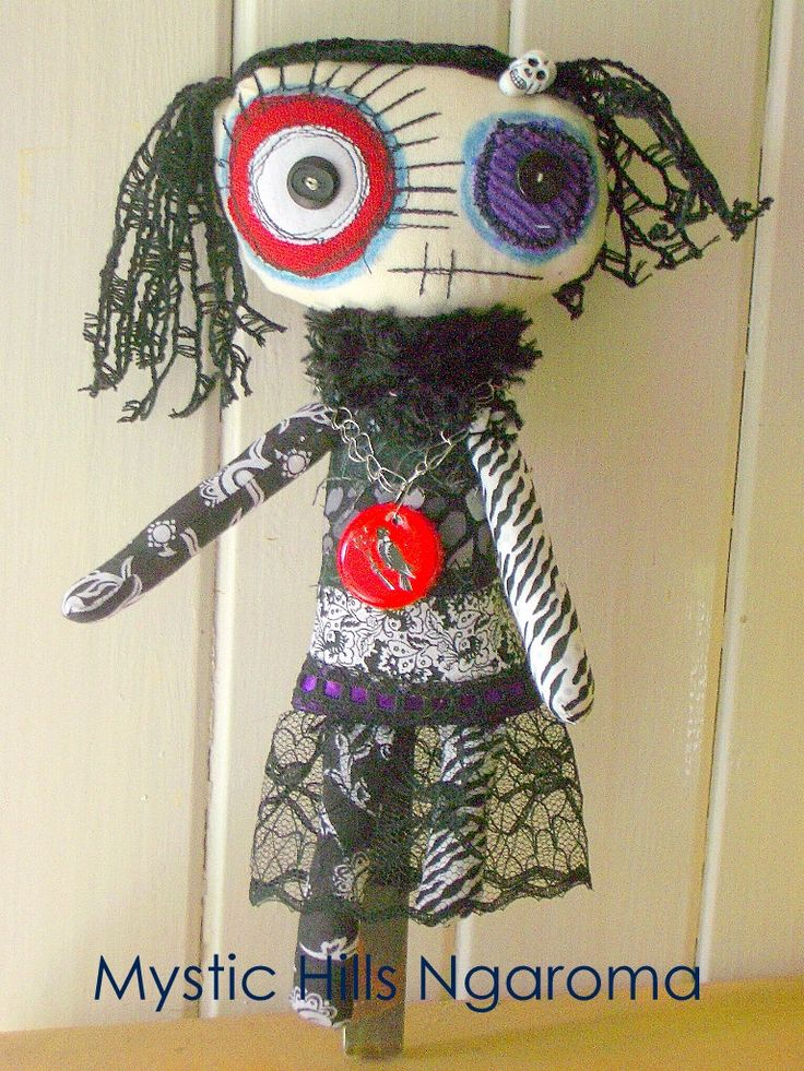 Handmade Goth MOnster Doll Nasty Nora