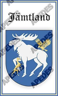 Jamtland Sweden Coat Of Arms Computer Car Decal Sticker 3x5 inches