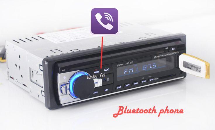 Mobil radio stereo player bluetooth telepon aux-in mp3 fm/usb/1 din/remote control untuk iphone 12 v audio mobil auto 2017 penjualan baru