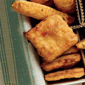Savory Cheese Straw Recipes | Pimiento Cheese Squares | SouthernLiving.com