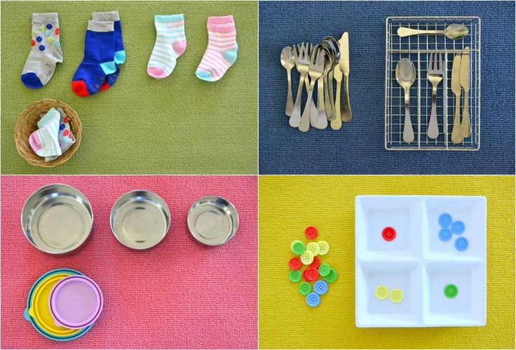 Four of My Favourite - Matching and Sorting Activities for Toddlers (using household items). | how we montessori | Bloglovin'
