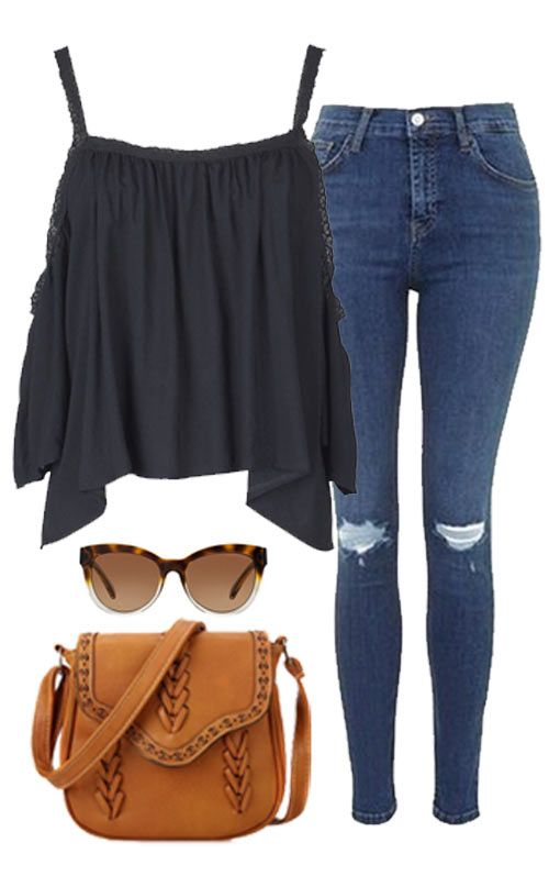 It will be a lovely day any day you get to wear this top! It features spaghetti straps and trimming along top hem, flare sleeves. Paired it with jeans, shorts, sandals, sneakers, and just mix and match how you see fit!