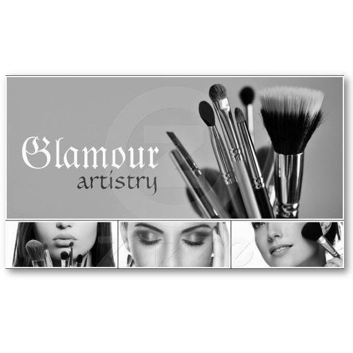 Cosmetics, Makeup Artist Business Card