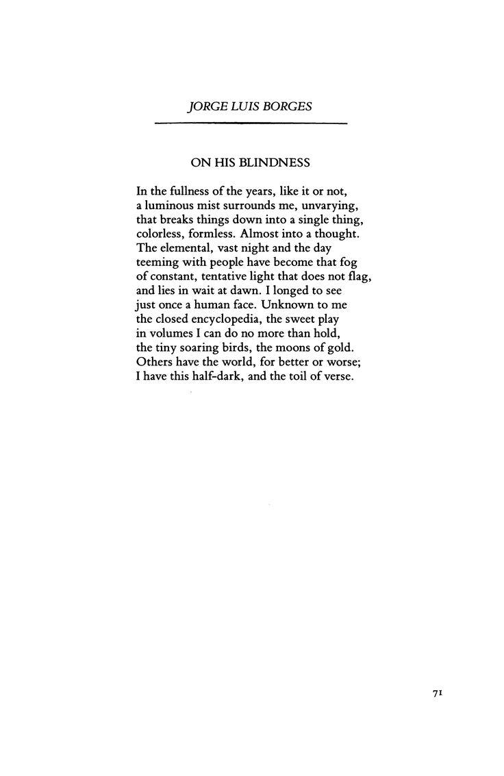 borges essay blindness  borges essay blindness