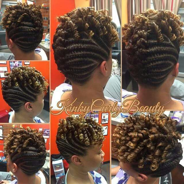 Flat twists ponytail and updo - Black Hair Information Community