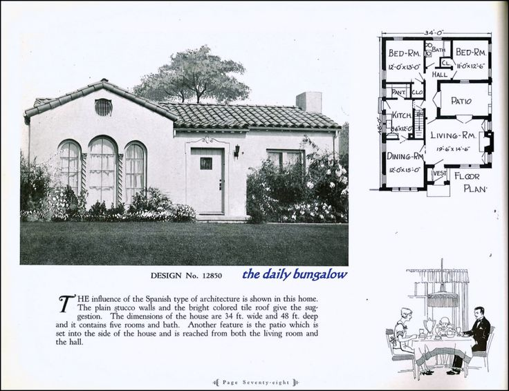 superior spanish bungalow house plans #3: https://flic.kr/p/ncBpZf | California Bungalow. Vintage House PlansVintage  HousesSpanish ...
