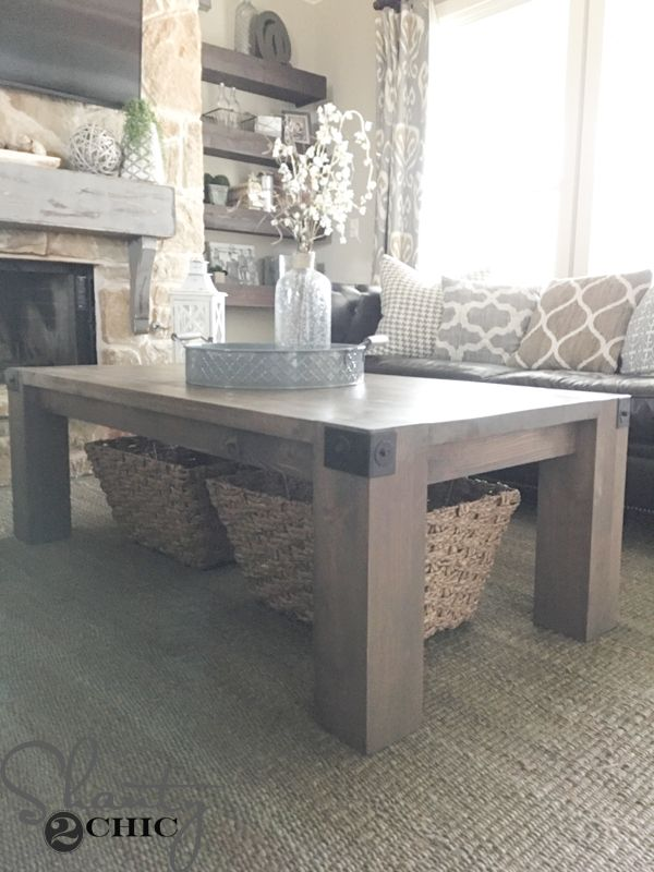 Build This Modern Farmhouse Coffee Table With Just 9 Framing Boards And 4  Pre Cut