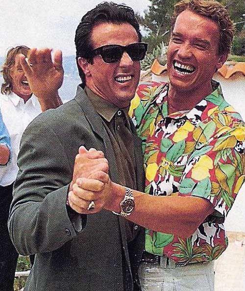 Sylvester Stallone and Arnold Schwarzenegger   Rare and beautiful celebrity photos