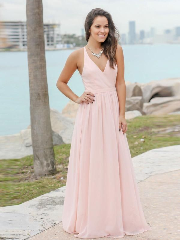 1c70a8f20ad Long Formal Maternity Dresses See Through Back Simple Blush Bridesmaid  Dresses APD3450 in 2019