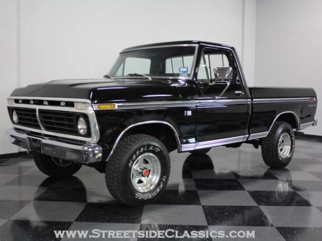 AutoTrader Classics - 1976 Ford F100 Truck Black Other Manual Other | Classic Trucks | Fort Worth, TX