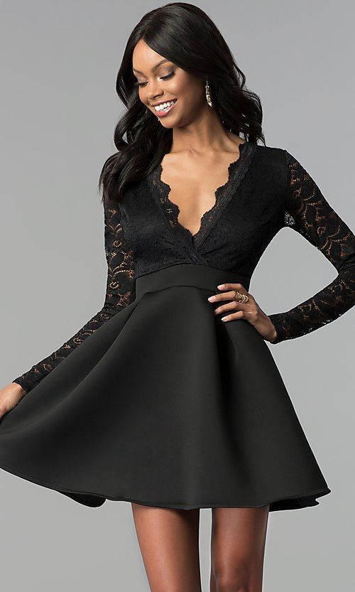 Party Dress with Open Sleeves