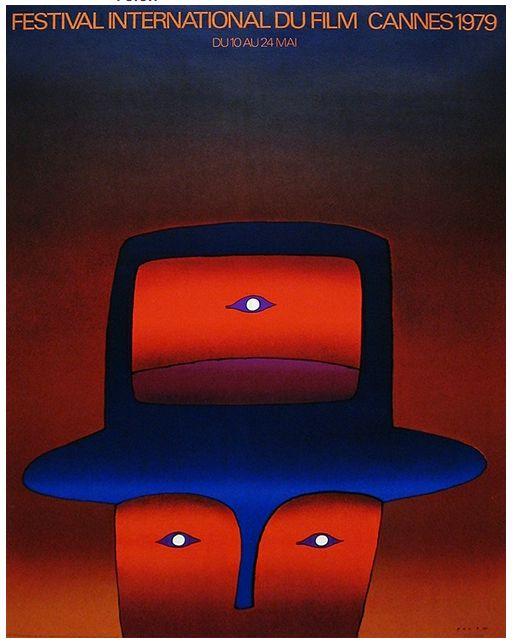 Cannes Film Festival (1979) - poster by Jean-Michel Folon