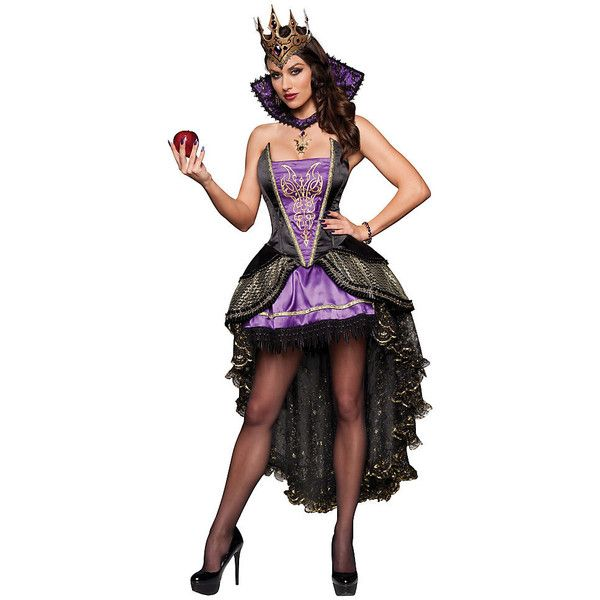Sexy Evil Queen Costume for Women ($180) ❤ liked on Polyvore featuring costumes, halloween costumes, multicolor, adult women costumes, adult costume, sexy women costumes, sexy halloween costumes and womens snow white costume
