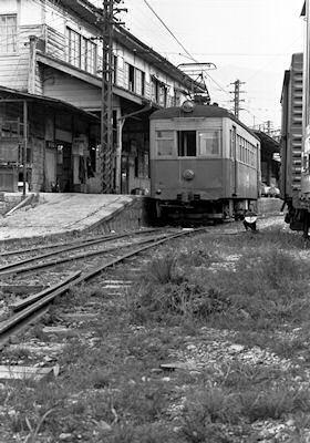 中津町のデ2 北恵那鉄道