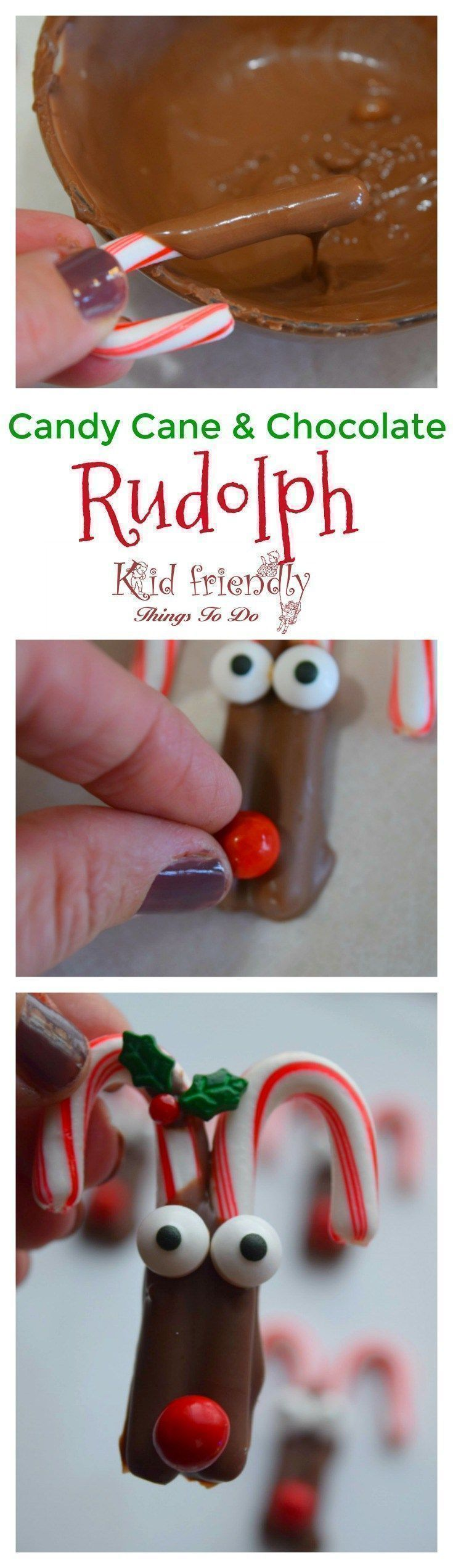 Perfect fun food snack for a Christmas party with kids. - Easy and fun treats for a quick last minute Christmas treat. http://www.kidfriendlythingstodo.com