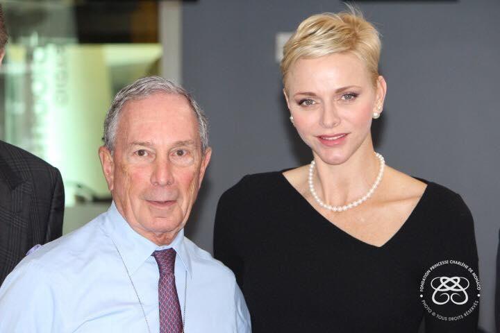 S.A.S. la Princesse Charlène s'est entretenue le 25 octobre à New York avec M. Michael Bloomberg