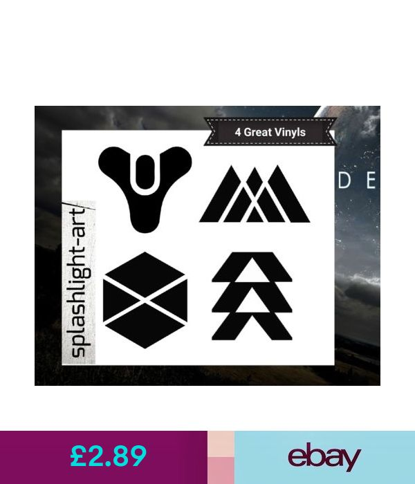 wall decals stickers 4x 10cm destiny 2 logo car wall on wall logo decal id=31362
