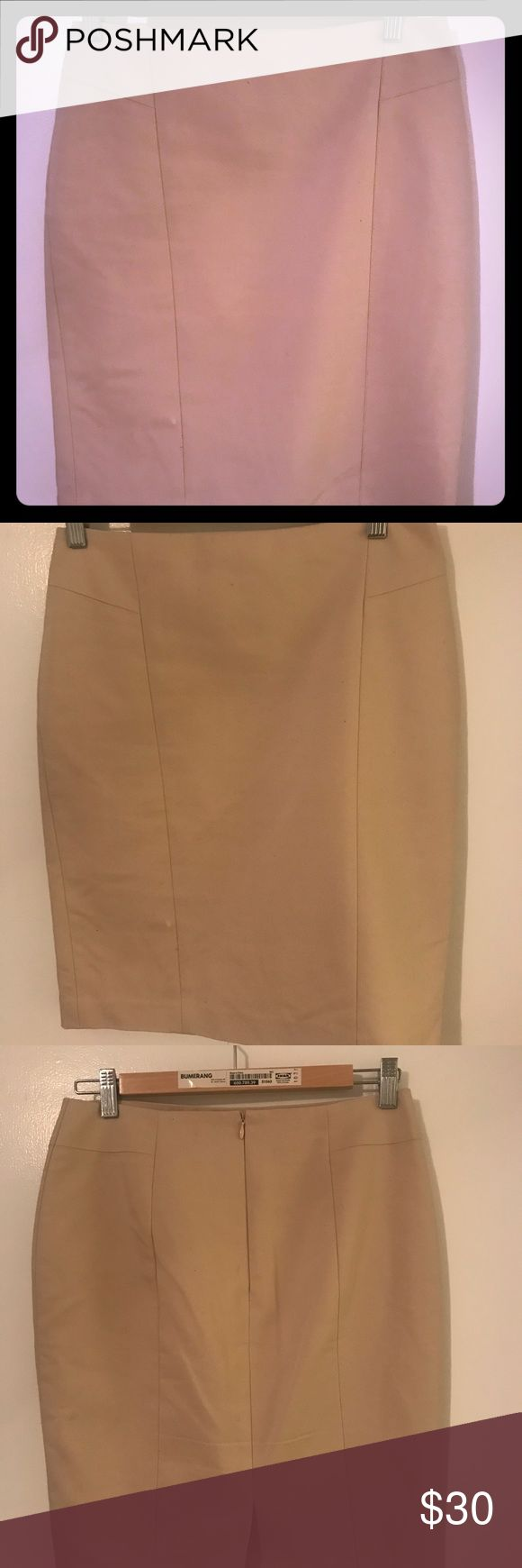 Ann Taylor Pencil skirt (4P) This is an Ann Taylor pencil skirt in excellent confident. It is a size 4P. The color is more of a cream than tan. Ann Taylor Skirts Pencil