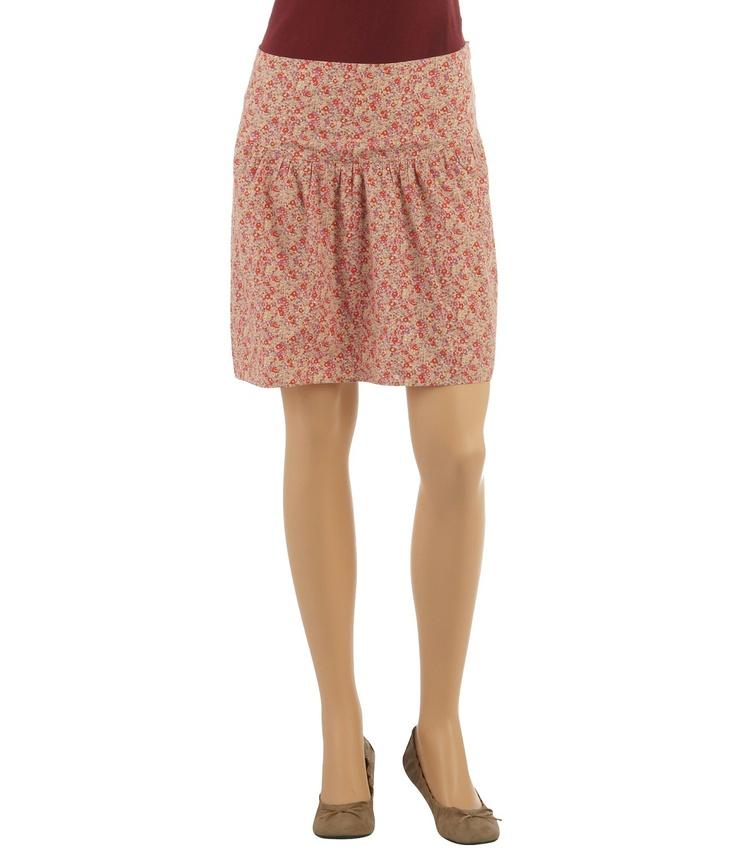 Jupe femme courte imprimé fleuri - Jupes Camaieu - Pret a porter féminin, mode et tendance