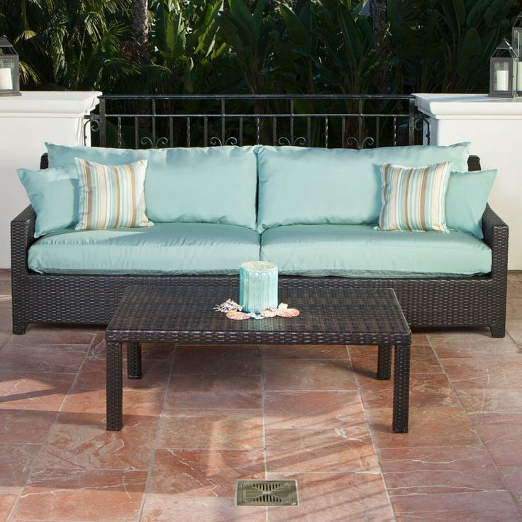 RST Outdoor Bliss Sofa and Coffee Table Set - OP-PESOFT-BLS-K