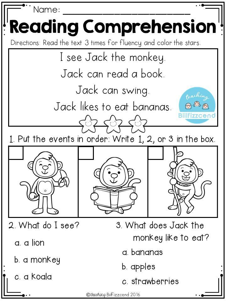 FREE Sequencing Reading Comprehension (With images