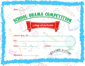 11 best certificates images on pinterest dramas award school drama competition award certificate template for ms word download at httpcertificatesinn yadclub Images