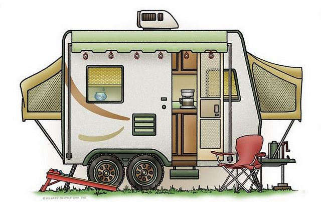 Whimsical Hybrid Travel Trailer (pinned by haw-creek.com)